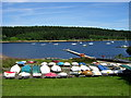 NY6786 : Boats at Whickhope by Iain Thompson
