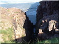 NC2265 : Gully in cliffs at north of Sandwood Bay by Brian MacLennan