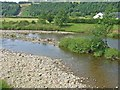 NY4886 : The River Liddel from the bridge at Newcastleton by Oliver Dixon