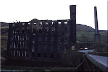 SD9524 : Woodhouse Mill, Langfield, Todmorden by Chris Allen