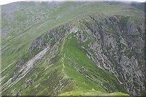 SH6963 : Bwlch Eryl farchog from Pen yr Helgi Du by Terry Hughes