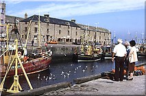 NJ2371 : Lossiemouth Harbour by Anne Burgess