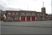 SY6778 : Weymouth fire station by Kevin Hale