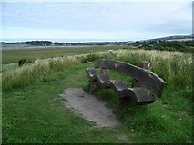 NT6578 : Unusual bench, John Muir Country Park by Lynne Kirton