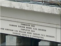 ST5673 : Inscription at top of the east tower, Clifton Suspension Bridge by Rich Tea