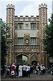 TL4458 : The Great Gate at Trinity College, Cambridge by Paul Glazzard