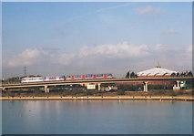 TQ4380 : DLR Viaduct, Gallions Reach by Stephen Craven