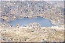 SH6659 : Llyn Bochlwyd from Tryfan Summit by Terry Hughes