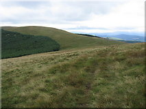 NX6898 : Southern Upland Way Cairn Hill by Chris Wimbush
