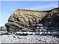 ST1444 : Rockface, Kilve Beach by Rob Farrow