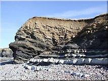 ST1444 : Rockface, Kilve Beach by Rob Farrow