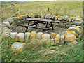 HY5803 : Picnic shelter at Barnes of Ayre, Deerness by Mark Crook