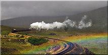 NN4259 : Steam train and rainbow by Alan Mitchell