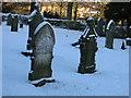 NY9984 : Kirkwhelpington churchyard in snow by P Glenwright