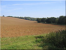 SP4339 : Farmland near The Bretch by David Stowell