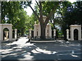 TQ2580 : Entrance to Kensington Palace Gardens by Danny P Robinson