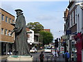 SU9949 : George Abbot Statue and Upper High Street by Colin Smith