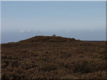 SJ2346 : Cairn on Ruabon Mountain by John Haynes
