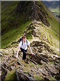 NY3415 : Top of Striding Edge Looking Back by Charles Rispin