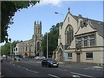 SO9596 : Roman Catholic Churches on the A41 in Bilston by John M