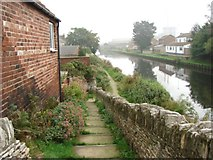 SE5023 : Steps to canal towpath, Cow Lane Bridge, Knottingley by Bill Henderson