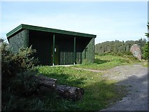 NG8681 : The hide at Inverewe Gardens by Roger McLachlan