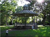 SJ6855 : Bandstand, Queen's Park, Crewe by Graham Shaw
