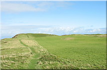 SH4356 : The View North Across Dinas Dinlle Fort by Eric Jones