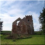 TF6013 : Wiggenhall St Peter church ruins by Martin Pearman
