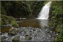 J3996 : Glenoe waterfall (4) by Albert Bridge