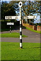 NY6039 : Signs and Road Junction, Gamblesby by Charles Rispin