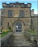 NZ1826 : St Helen Auckland church porch by Stanley Howe