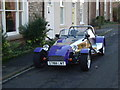 NZ1716 : Shiny blue roadster by Stanley Howe