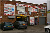 TA0827 : Castle Motors, Strickland St, Hull by Charles Rispin