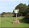 TF6829 : Dersingham village sign by Martin Pearman