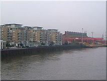 TQ2575 : Riverside West from Wandsworth Bridge by Derek Harper