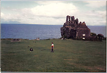 NS2515 : Dunure Castle by Ann Cook