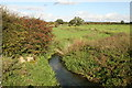 SJ5061 : River Gowy looking north from Huxley Bridge by Peter Styles