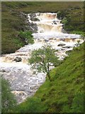 NH1282 : Waterfall on the Dundonnell River by Nikki Mahadevan