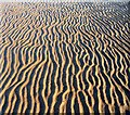 SJ2086 : Patterns in the sand, West Kirby beach by Peter Craine