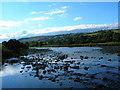 SJ0610 : Afon Banwy  down to its bones by neil gibbs