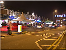 TQ1884 : Ealing Road at night by Danny P Robinson
