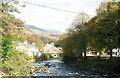 SH5948 : A view of the Glaslyn upstream towards Pont Bryn Eglwys by Eric Jones