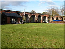 SO8455 : Railway Viaduct, Worcester by Philip Halling