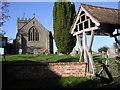 SO6973 : Bayton Church and lychgate by Richard Greenwood