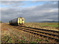 SD1882 : Train on Millom Marsh by Andrew Woodhall