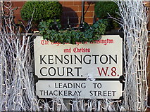 TQ2579 : Kensington Street Signs by Colin Smith