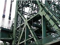NZ4719 : Newport Bridge - Detail of the Foot of the East Tower by Mick Garratt