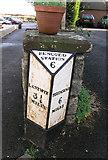 SS9674 : Mile Marker, Llysworney village centre by Tony Hodge