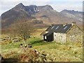 NH0681 : Shenavall bothy and Beinn Dearg Mor by Roy Turnbull